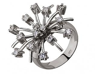 Золотое кольцо с бриллиантами 2б_к-043 фотография