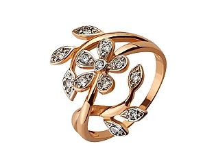 Золотое кольцо с фианитами 01-17116724 фотография