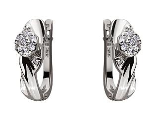 Золоті сережки з діамантами 01-17511024 фотографія