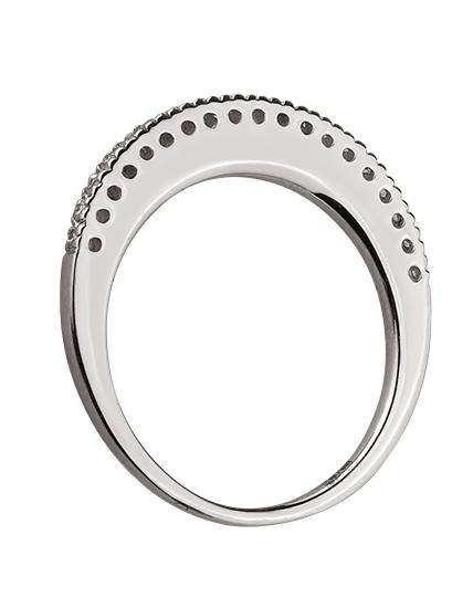 Золотое  кольцо с бриллиантом 01-17599224 фотография 2