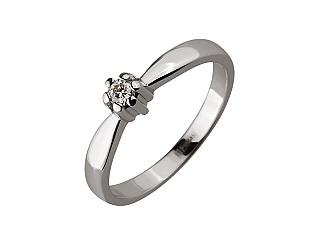 Золота каблучка з діамантом 01-17604124 фотографія