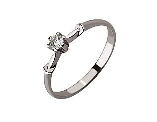 Золотое кольцо с бриллиантом 01-17620824 фотография
