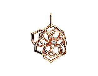 Золотий кулон з діамантами 1б_п-159 фотографія