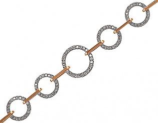 Золотой браслет с фианитами 4б-024 фотография