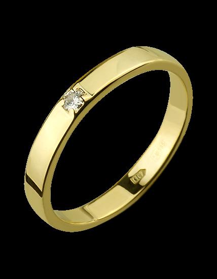 890e031a0b10 Золотое обручальное кольцо с бриллиантом (3к-282)