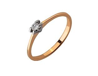 Золота каблучка з діамантами 01-17620825 фотографія
