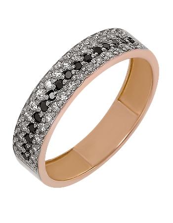 """Золотое кольцо 585 пробы с фианитами (01-16462334) """"Ювелирная карта"""""""