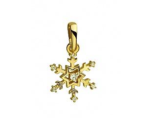 Золотий кулон з фіанітами 3б_п-083 фотографія