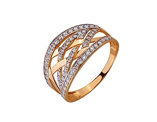 Золотое кольцо с циркониями 01-17520226 фотография