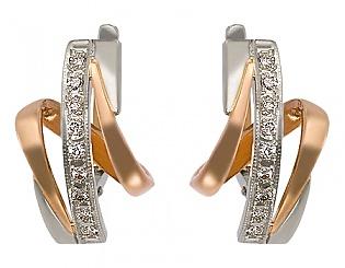 Золоті сережки з діамантом 4-с-600 фотографія