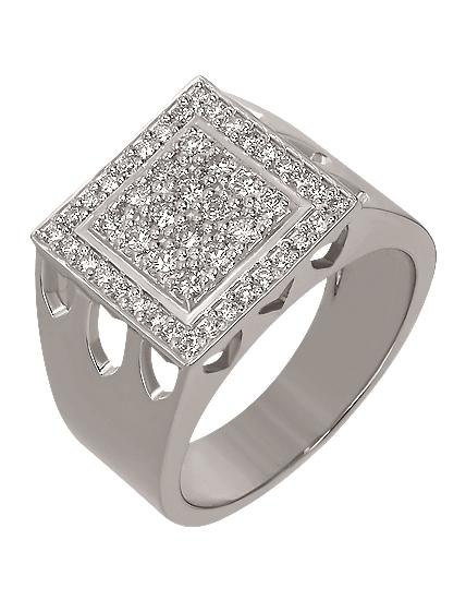 Золотой перстень 585 пробы с бриллиантами (15-000089094)