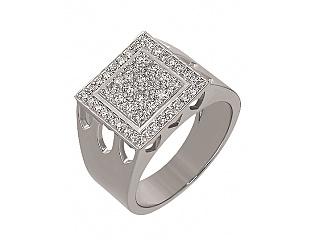 Золотое кольцо с бриллиантами 2б_к-051 фотография