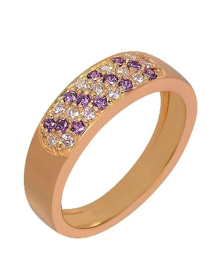 """Золотое кольцо 585 пробы c фианитами (15-000043730) """"Ювелирная карта"""""""