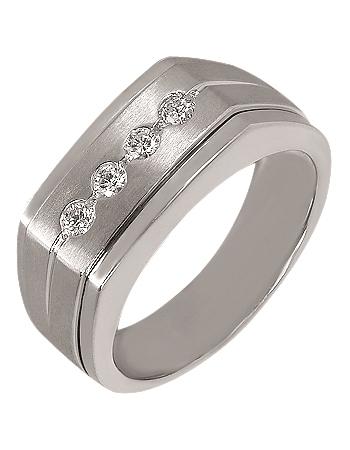 Золотой перстень 585 пробы с бриллиантами (15-000069997)