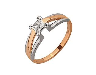 Золотое кольцо с бриллиантом 4-к-1738 фотография
