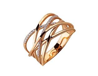 Золота каблучка з фіанітами 01-17495227 фотографія