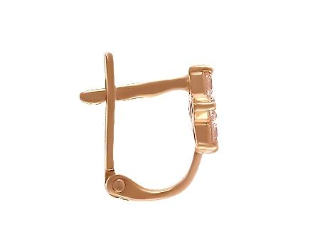 Золоті сережки з цирконієм куб. 1-с-37 фотографія 2