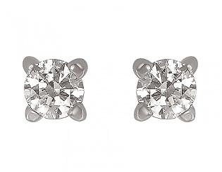 Золоті сережки з фіанітами 2-с-438 фотографія
