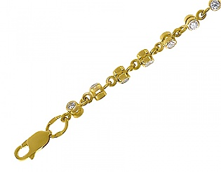 Золотой браслет с фианитами 3б-010 фотография