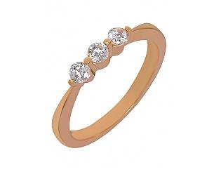 Золотое кольцо с фианитами 1к-253 фотография