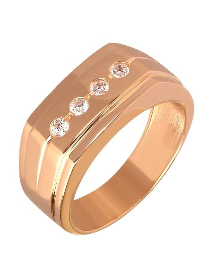 Золотой перстень 585 пробы с фианитами (15-000058328)