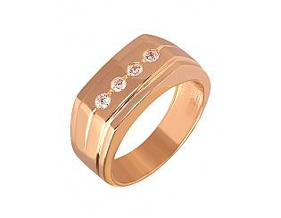 Золотое кольцо с циркониями 1к-272 фотография