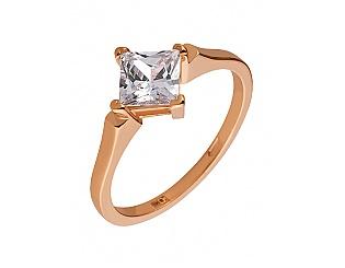 Золотое кольцо с цирконием куб. 1б_к-104 фотография
