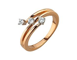 Золотое кольцо с фианитами 01-17073028 фотография