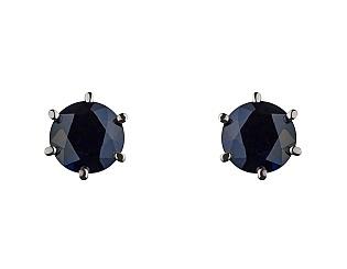 Золоті сережки з сапфіром 2с-160 фотографія