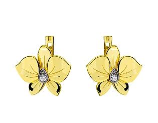 Золоті сережки з діамантом 9б_с-150 фотографія