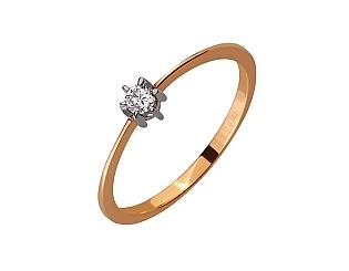 Золота каблучка з діамантом 01-17466929 фотографія