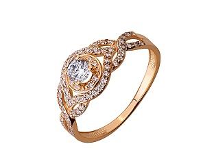 Золота каблучка з цирконієм куб. 01-17676129 фотографія