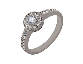 Золотое кольцо с фианитами 2б_к-002 фотография