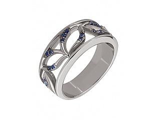 Золотое кольцо с сапфирами 11б_к-075 фотография