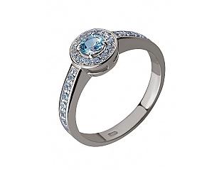 Золотое кольцо с топазами и циркониями 2б_к-002 фотография