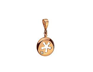 Золотий кулон з цирконієм куб. 01-17520230 фотографія