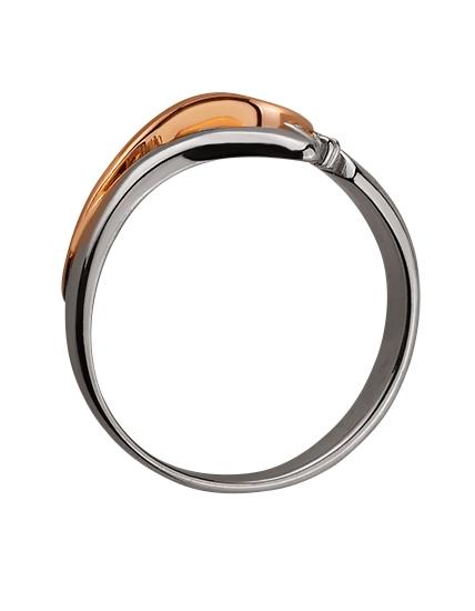 Золотое кольцо с бриллиантом 01-17578930 фотография 2