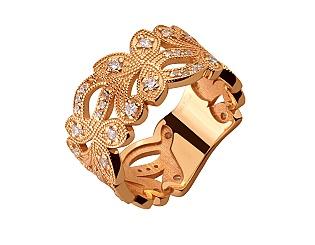 Золотое кольцо с фианитом и цирконием куб. 1б_к-174 фотография