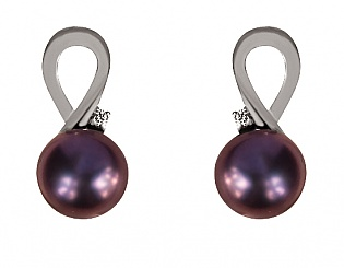 Золоті сережки з діамантом і перлиною 2с-167 фотографія