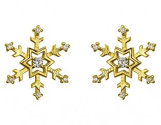 Золоті сережки з фіанітами 3б_с-105 фотографія