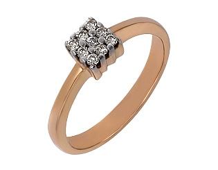 Золотое кольцо с бриллиантом 01-17456631 фотография