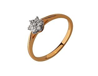 Золотое кольцо с бриллиантом 01-17642531 фотография