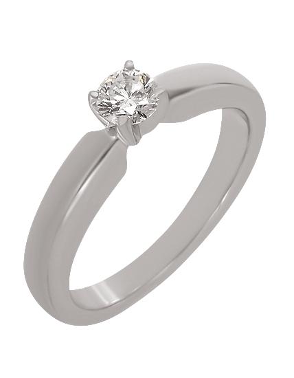 """Золотое кольцо 585 пробы  с бриллиантом (15-000086943) """"Ювелирная карта"""""""