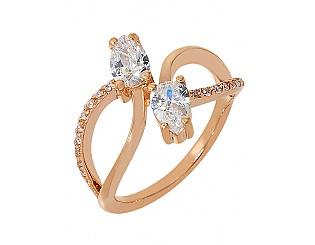 Золотое кольцо с фианитами 1б_к-058 фотография