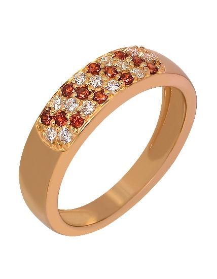"""Золотое кольцо 585 пробы c фианитами (15-000075656) """"Ювелирная карта"""""""