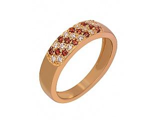 Золотое кольцо с фианитами и циркониями 1б_к-057 фотография
