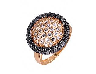 Золотое кольцо с фианитами 10б_к-031 фотография
