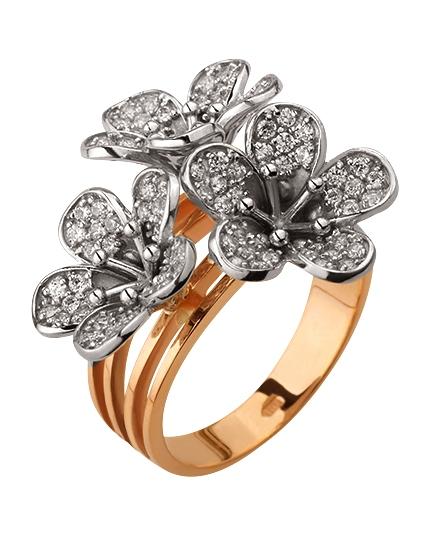 Золотое кольцо с циркониями (15-000117796)