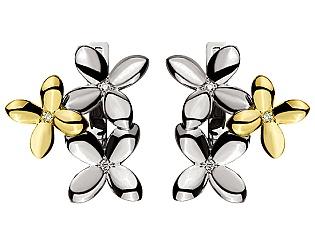 Золоті сережки з діамантами 5б_с-117 фотографія