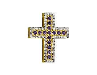 Золотий кулон з топазом і діамантом 9б_п-154 фотографія